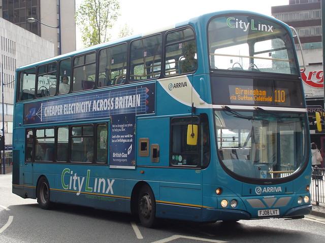 Arriva Midlands 4207 FJ08LVT