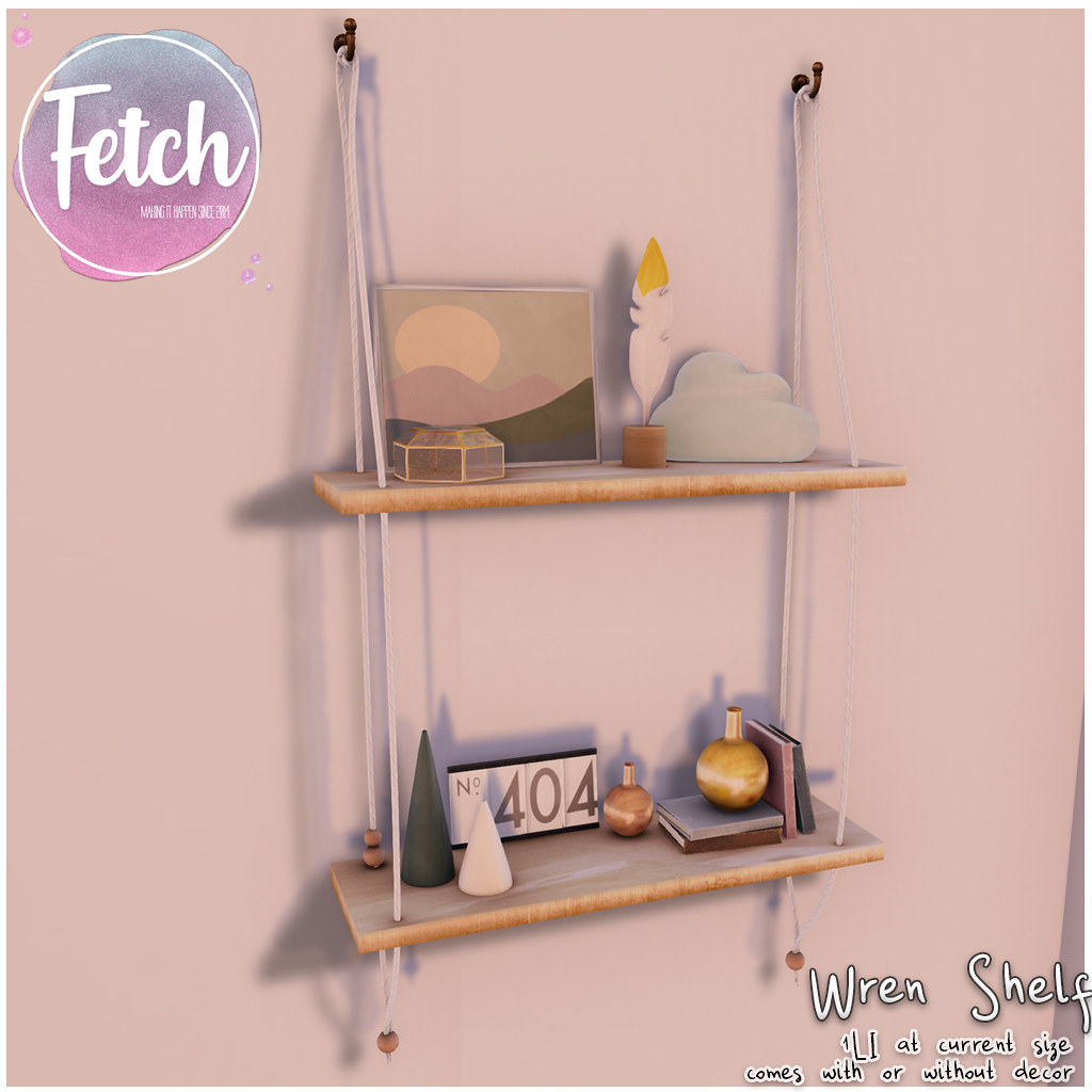 [Fetch] Wren Shelf @ Fifty Linden Friday!