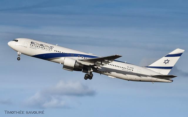 CDG   El Al Israel Airlines Boeing 767-300ER   4X-EAM
