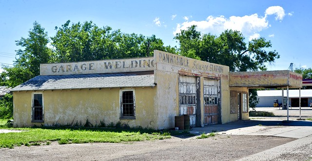 Panhandle Service Station - Texline, Texas