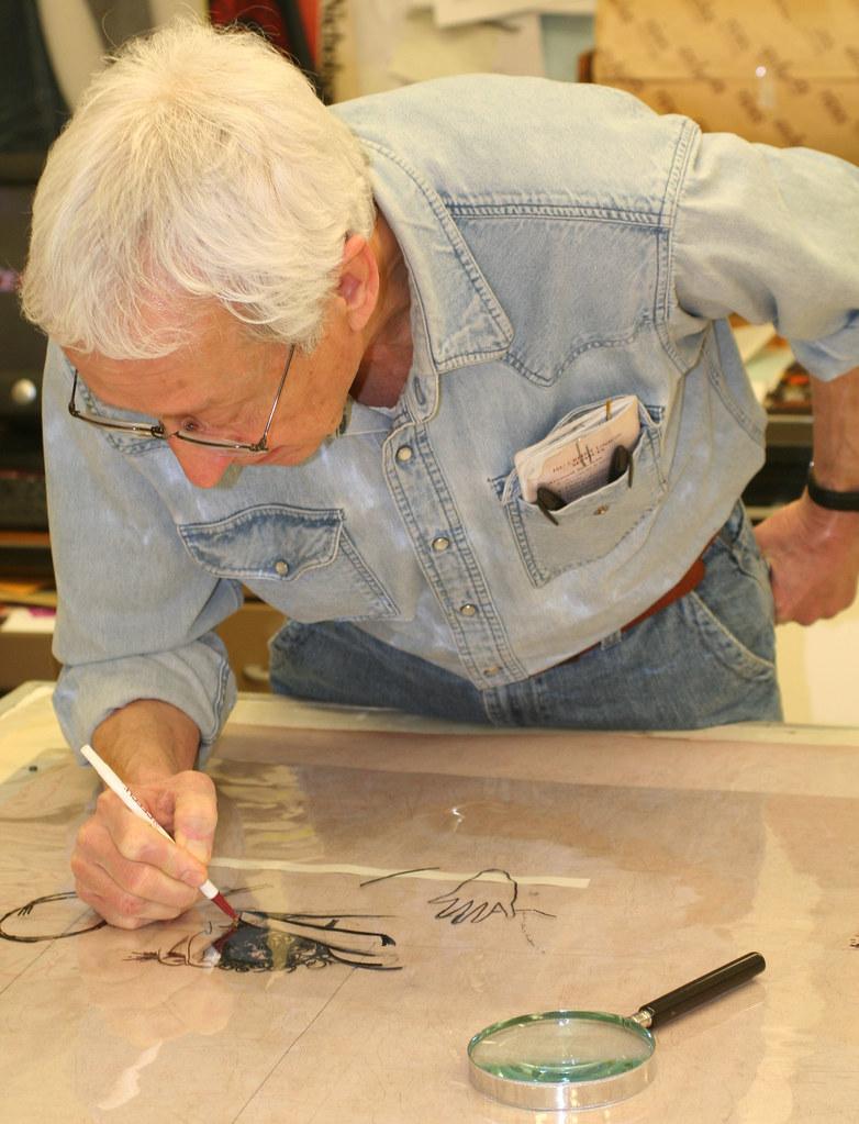 Harold Boyd painting on mylar