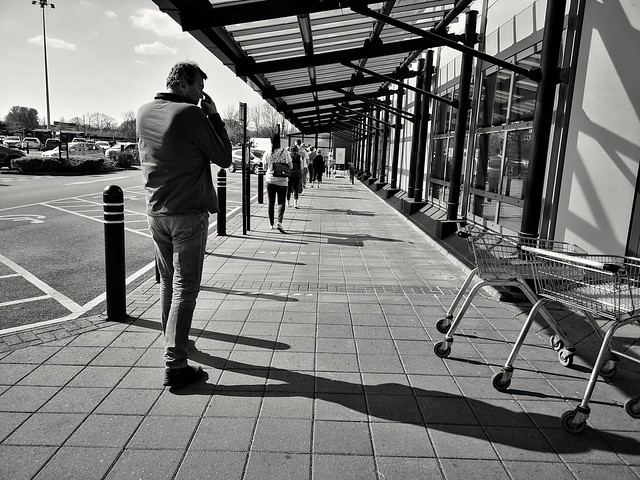 A bit of social distancing at the supermarket
