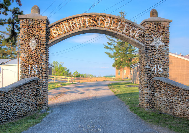 Burritt College Entry Archway 1848 - Spencer, Tennessee