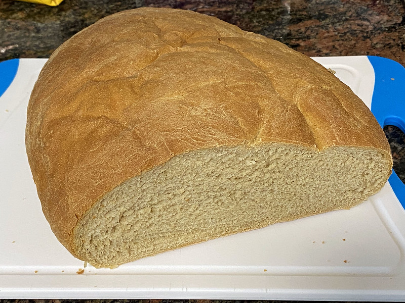 Baking bread: slicing