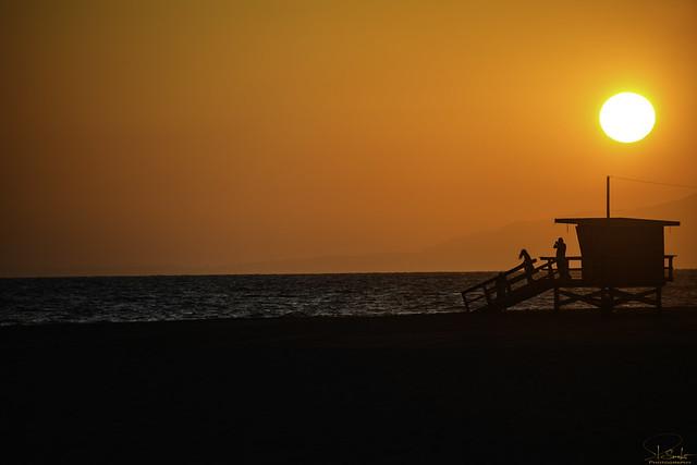 Sunset feeling at Venice Beach - Los Angeles - California - USA