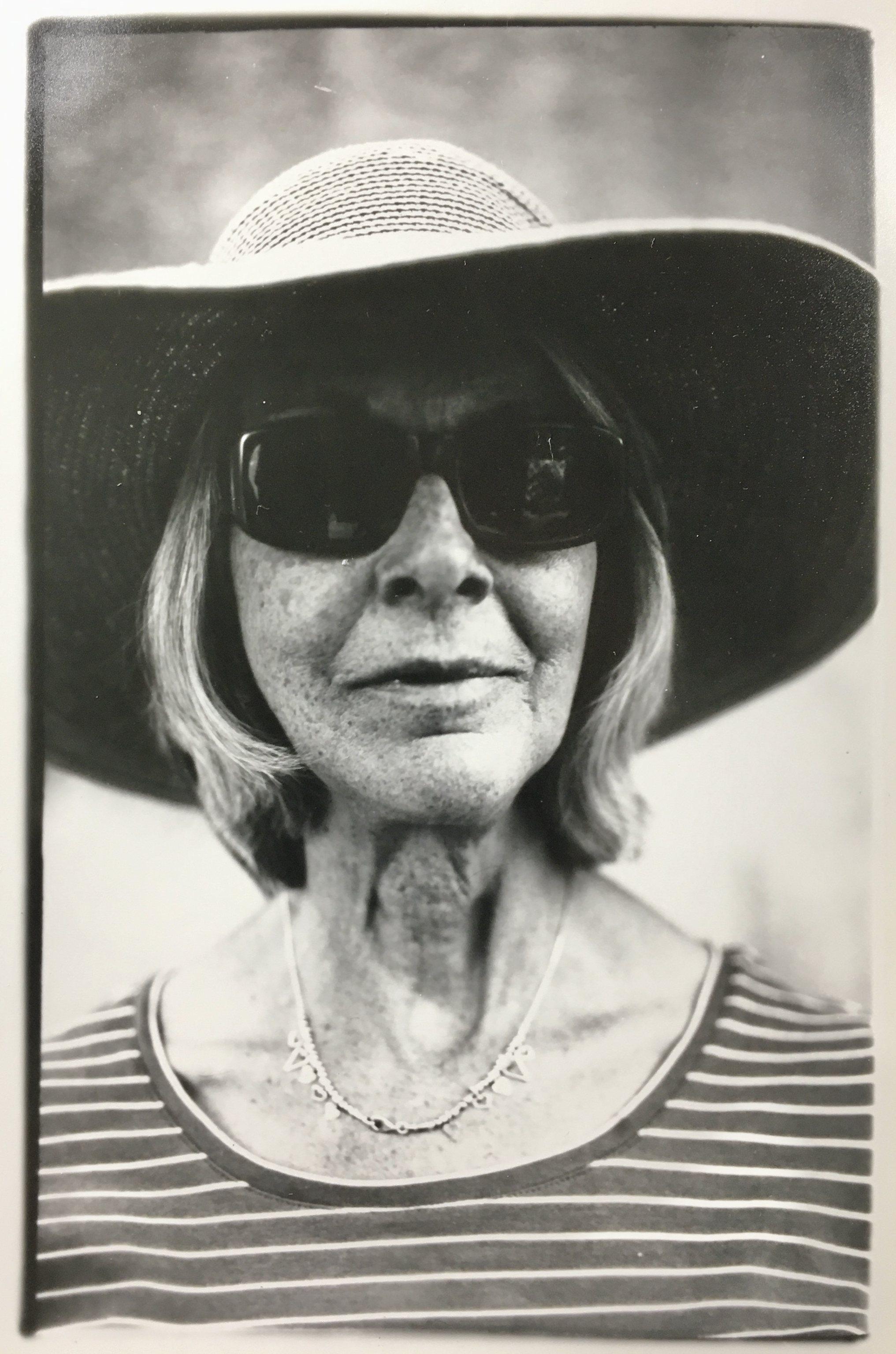 Andrea in sun hat.