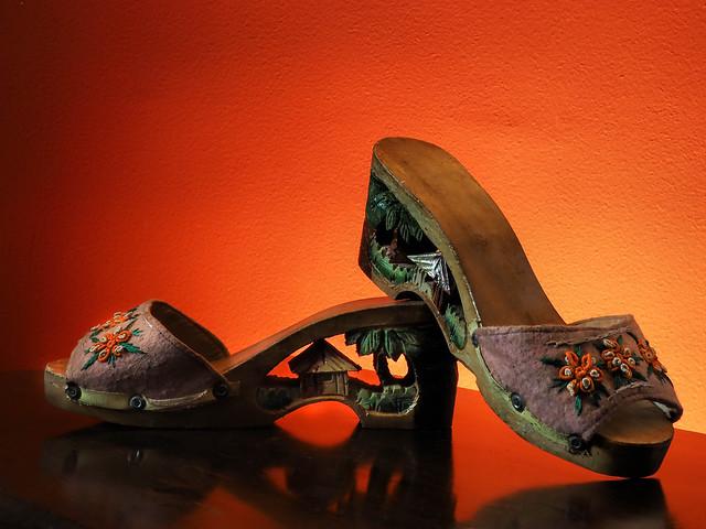 Wooden High Heels