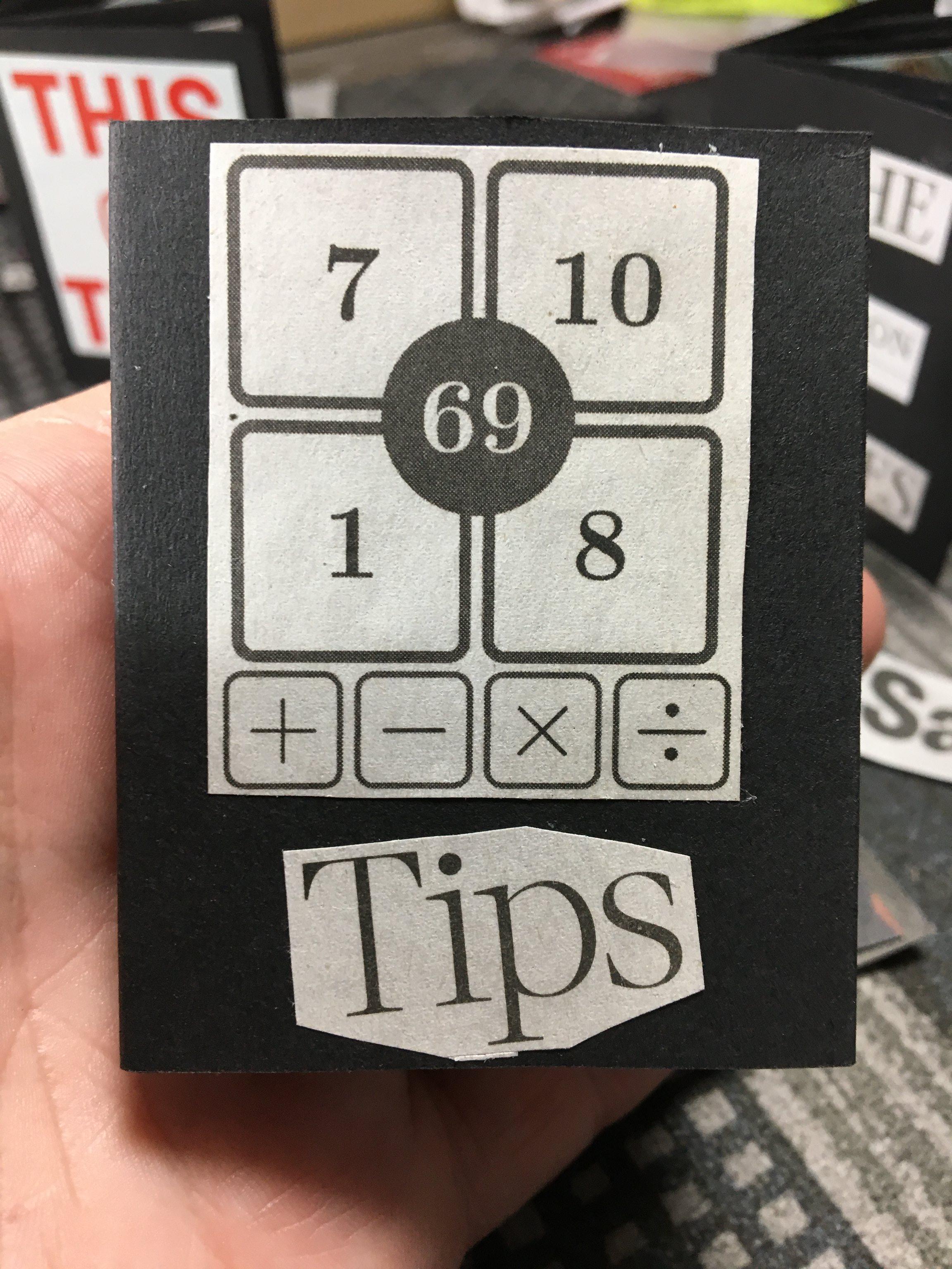 Tips mini zine
