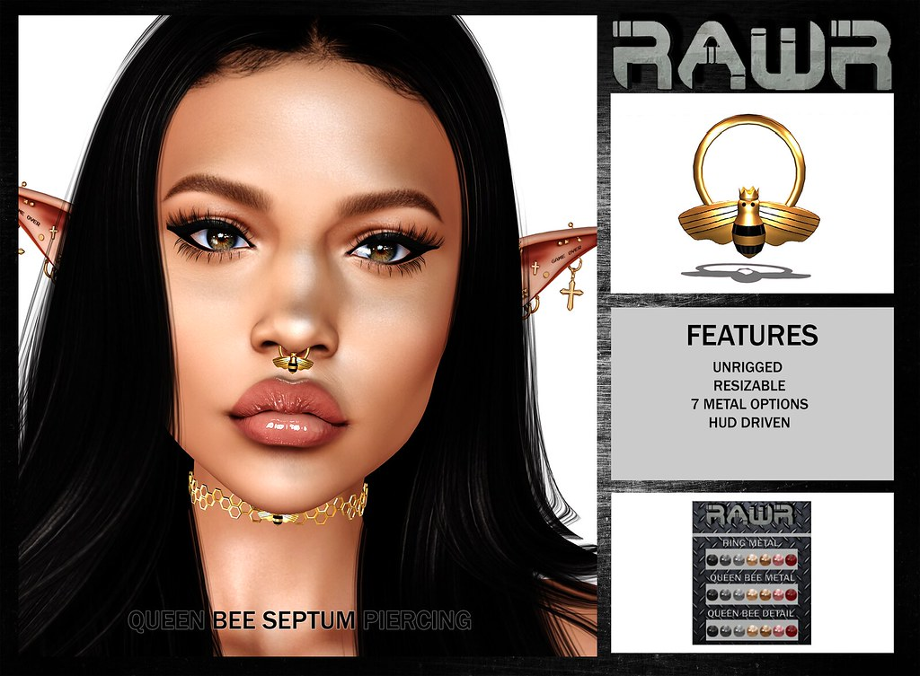 RAWR!  Queen Bee Septum Piercing