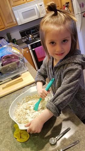 mixing up ingredients