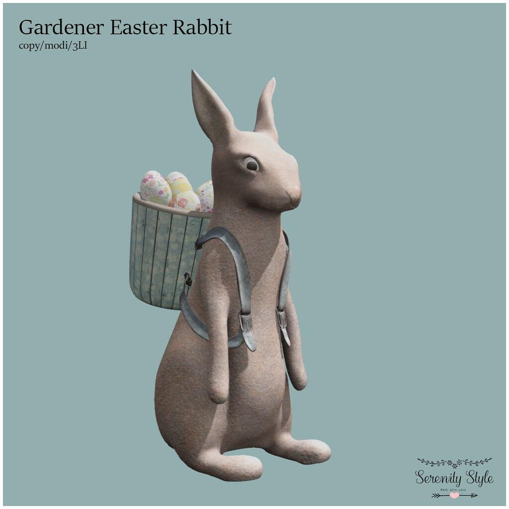 Serenity Style- Gardener Easter Rabbit