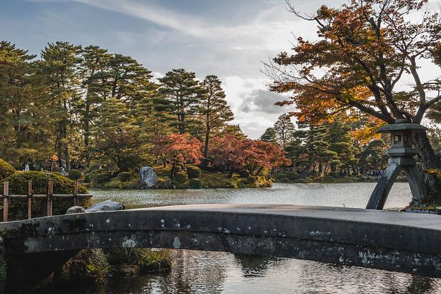 Kenrokuen Garden Bridge - Kanazawa, Japan