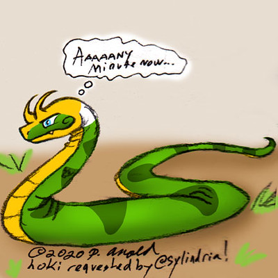 4.10.20 - Six Fanarts Challenge: Snake Loki