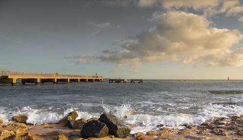 eastney portsmouth rocks clouds sea seaviews
