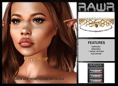 RAWR!  Queen Bee Honeycomb Necklace
