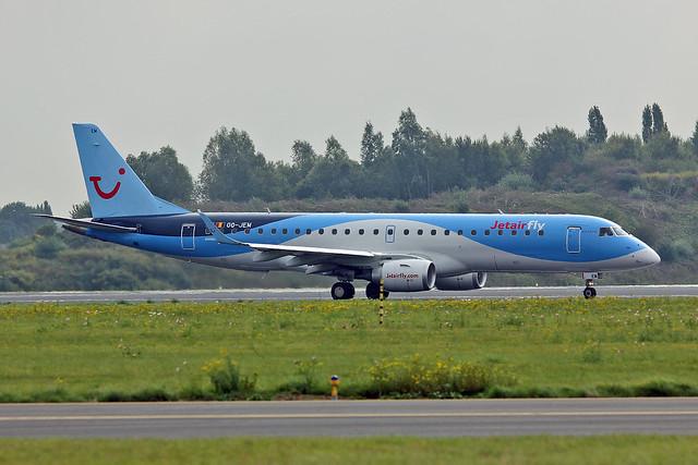 OO-JEM Embraer 190-100STD TUI Belgium Named Explorer BRU 21-09-13