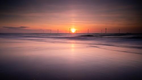 aberdeen aberdeenbeach blackdog beach windfarm scotland sunrise sunset landscape longexposure ocean outdoor outside