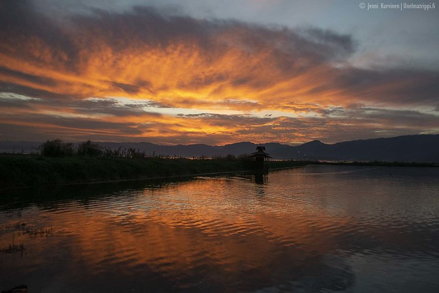 Auringonlasku Inlejarvellä