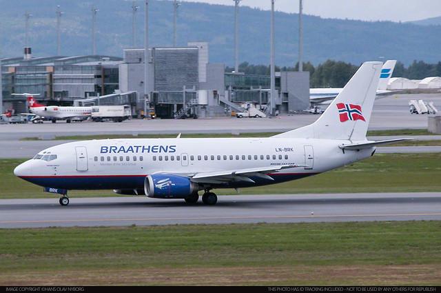 Braathens, Boeing 737-500, LN-BRK (24274)