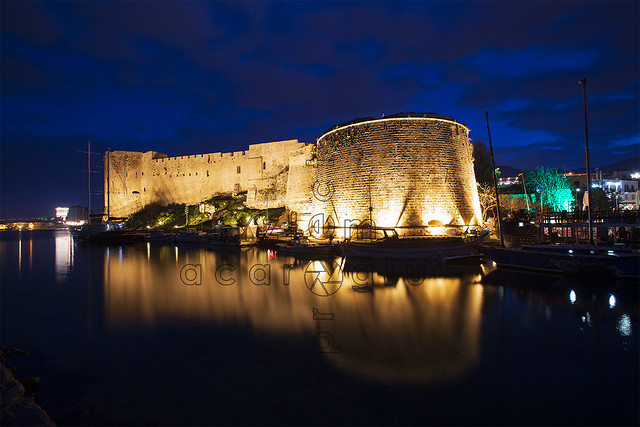 Kyrenia Castle is a fortress built by the Byzantines in the 7th century to protect the city against Arab-Islamic invasions.......Turkish Republic of Northern Cyprus, Turkey