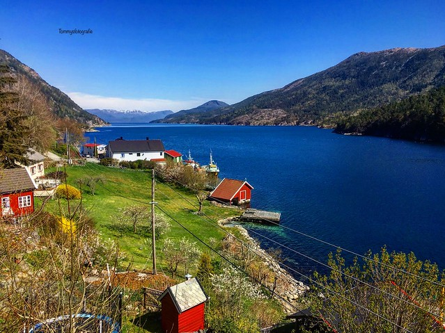View into the Yrkjefjorden, Rogaland, Norway. Memories