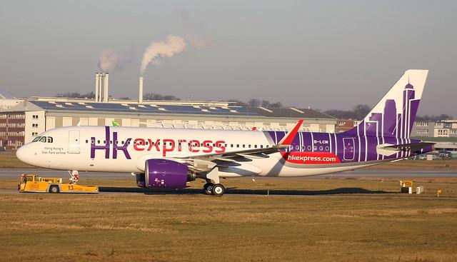 Hong Kong Express, B-LCM, MSN 7273, Airbus A 320-271N, 30.12.2016, XFW-EDHI, Hamburg Finkenwerder