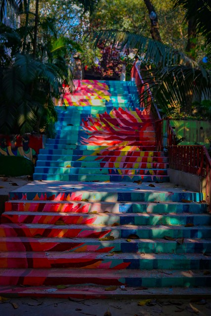 Stair of Heaven, Institute of Fine Arts, University of Chittagong. Stair painting by me and my senior artists for celebrating at 'BASANTA BORON & PITHA UTHSOB 1426' (Spring Reception & Pitha Festival 2020).  16 February 2020 03 Falgun 1426 (Bengali)