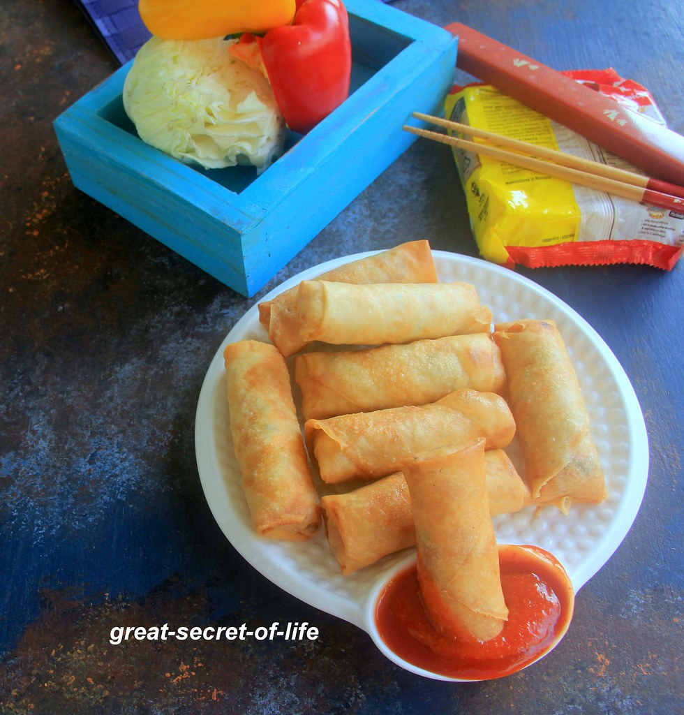 Noodles Spring roll recipe - Spring roll recipe - Snacks recipe - Kids friendly recipes - Party starters recipe