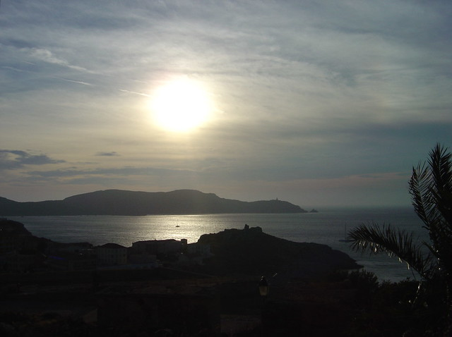 Coucher de soleil depuis la citadelle de Calvi