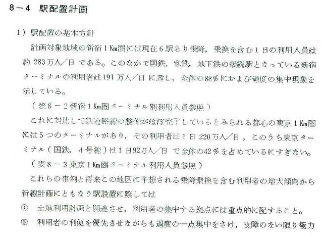 昭和48年の上越新幹線新宿駅ホーム構想 (16)