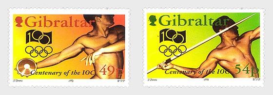 Známky Gibraltar 1994 100 rokov MOV MNH souvenir pack