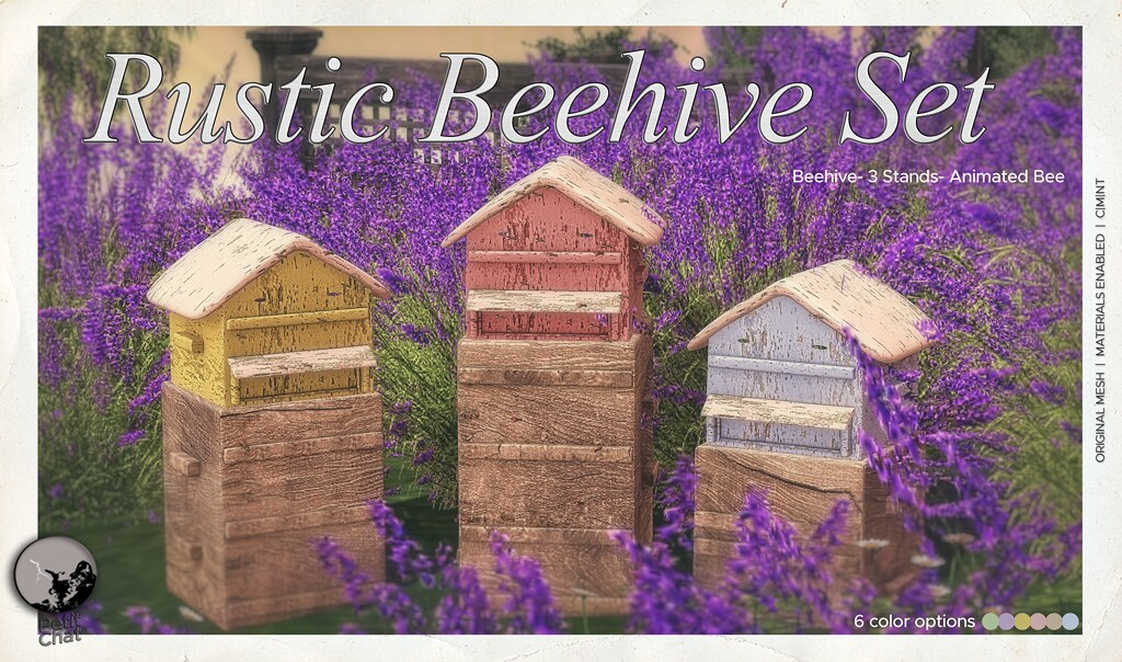 New release : Rustic Beehive Set / Secret Sale Sundays