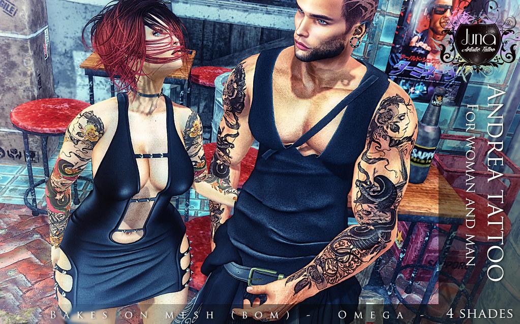 Andrea tattoo Unisex