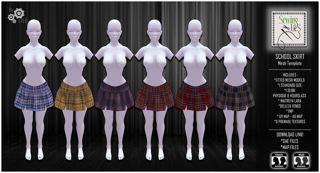 School Skirt Mesh – SewingLies