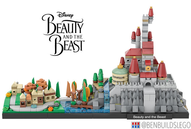 LEGO Beauty and the Beast Skyline