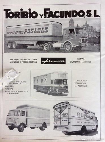 Publicitat carrosseries Toribio i Facundo de Segòvia