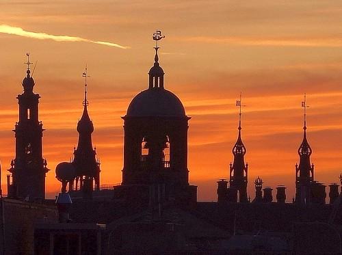 sony amsterdamthenetherlands sunset orange dampalaceamsterdamthenetherlands steeples cityview rex
