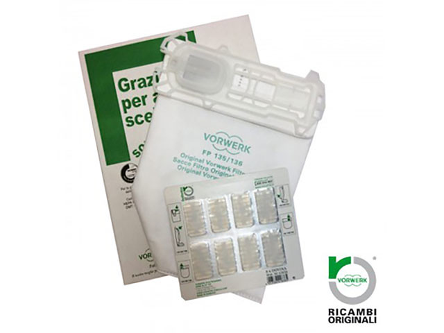 SACCHETTI FOLLETTO KOBOLD K135 K136 CON PROFUMINI ORIGINALI - 0