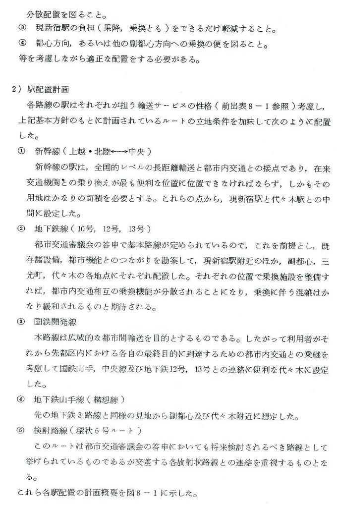 昭和48年の上越新幹線新宿駅ホーム構想 (20)
