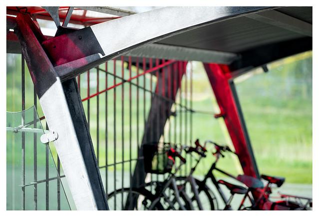 Red light bike shed