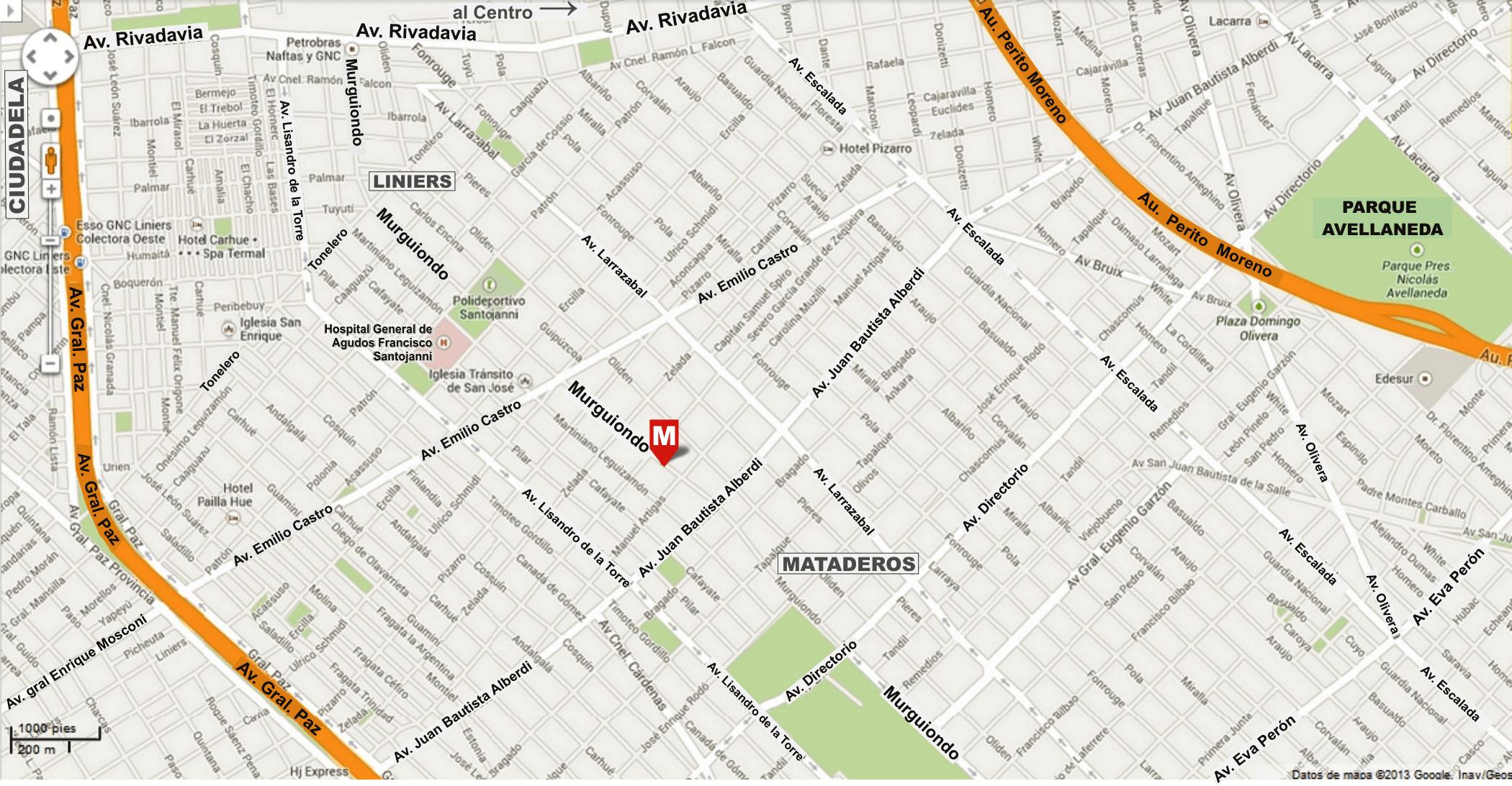 Ubicación de Marcial Serigrafía - Murguiondo 1441, dpto: 4 Ciudad Autónoma de Buenos Aires AR, C1440CNG
