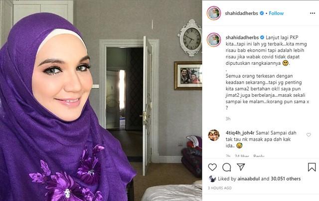 Datin Shahida Di Instagram