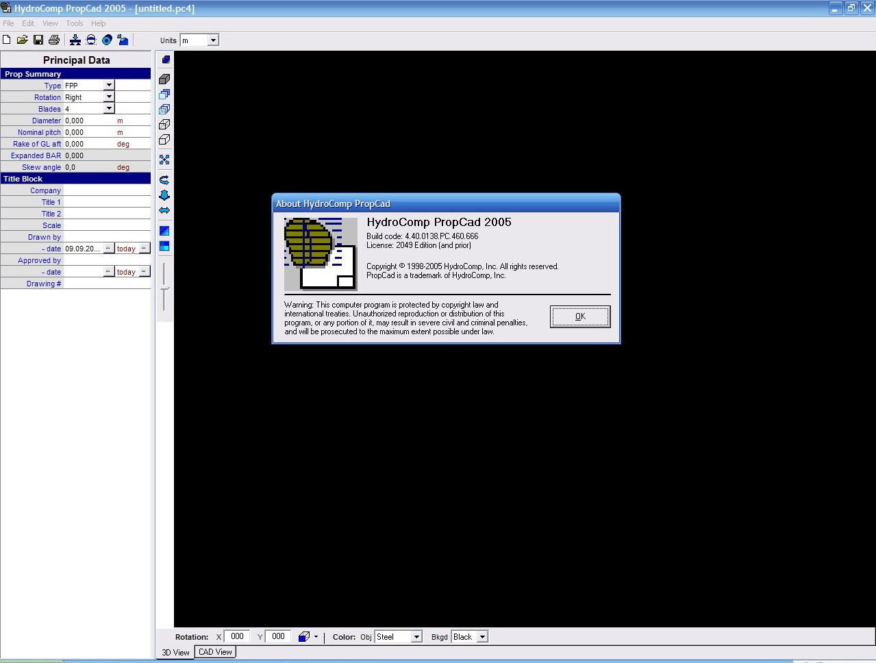 Working with PropCad 2005 full license