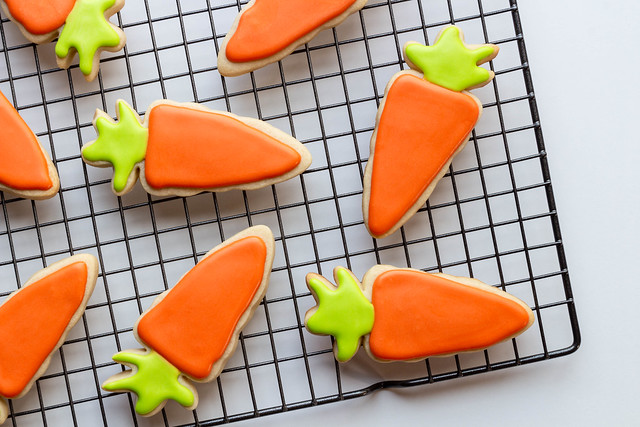 Carrots. Easter cookies.