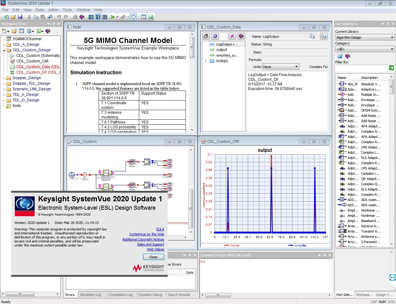 Working with Keysight SystemVue 2020.1 full license