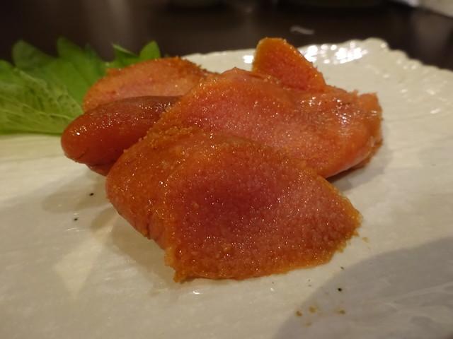 Hot and spicy cod roe @Soba-Restaurnat Hakuan, Tokyo