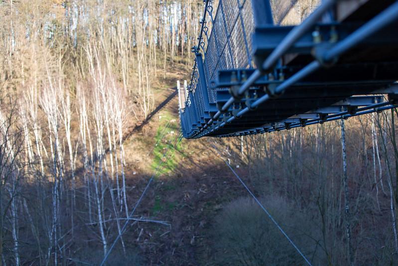 Hängeseilbrücke im Bärental