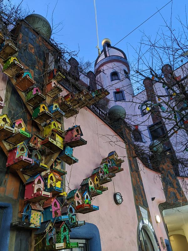 Hundertwasserhaus in Magdeburg.