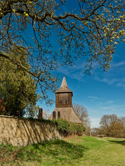 St George at Libusin- (fofrtified church and castle)- part of buildings presenting the wooden belfry