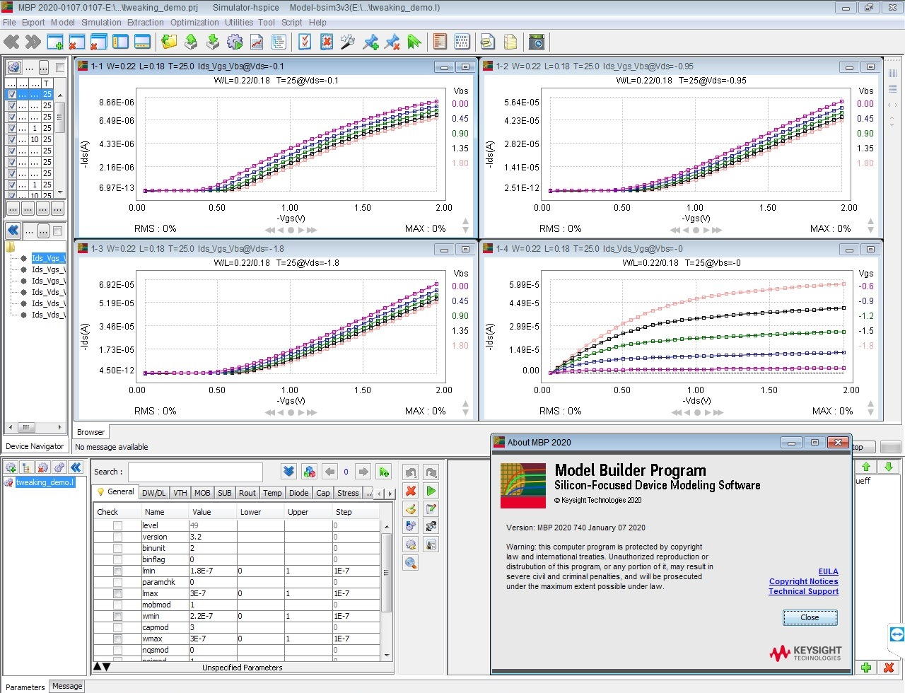 Working with Keysight Model Builder Program (MBP) 2020 full license